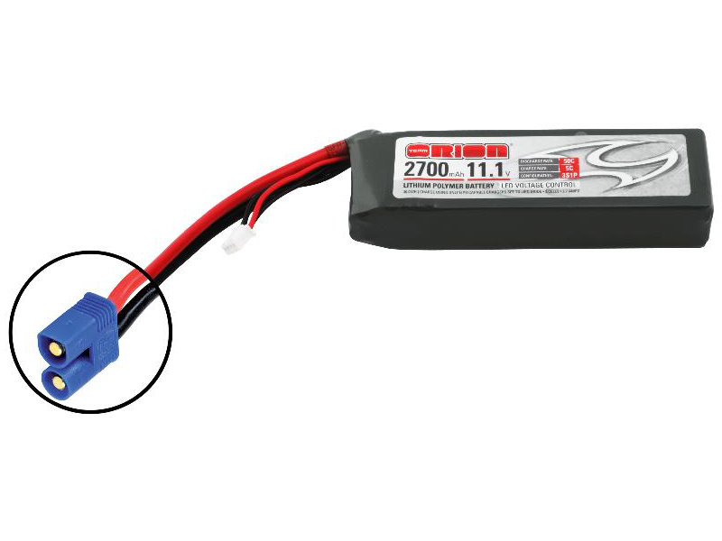 Team Orion LiPol 2700mAh 3S 11.1V 50C EC3 LED ORI60169