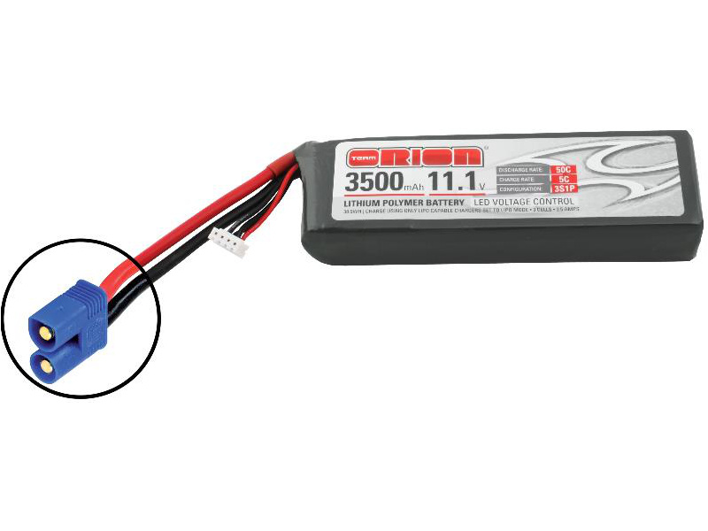 Team Orion LiPol 3500mAh 3S 11.1V 50C EC3 LED ORI60178