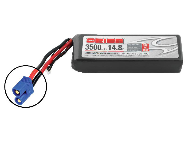 Team Orion LiPol 3500mAh 4S 14.8V 50C EC3 LED ORI60179