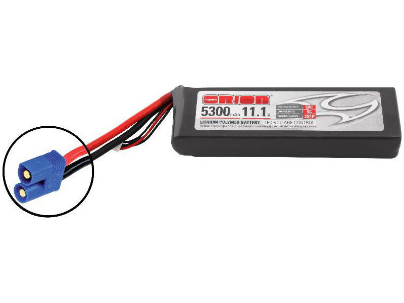 Team Orion LiPol 5300mAh 3S 11.1V 50C EC3 LED ORI60207