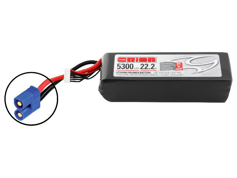 Team Orion LiPol 5300mAh 6S 22.2V 50C EC3 LED ORI60210