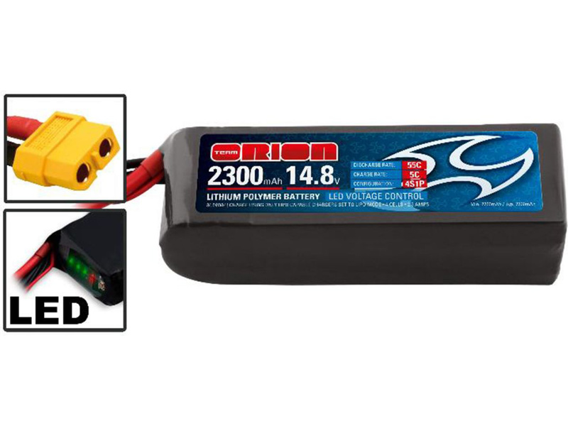 Team Orion LiPol Racing-D 2300mAh 14.8V 55C XT60 ORI60238