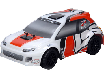 Losi Micro-Rally Car 1:24 4WD RTR oranž/bílý / LOSB0241IT2