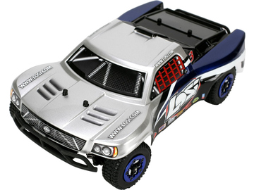 Losi Micro-Short Course BL 1:24 4WD RTR stříbrný / LOSB0242IT2