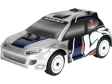 Losi Micro-Rally Car BL 1:24 4WD RTR stříbrný / LOSB0243IT2