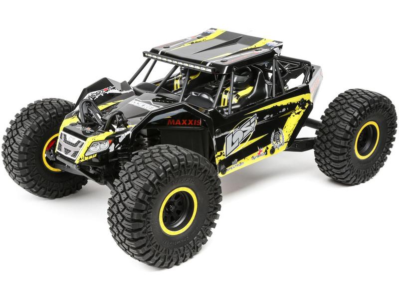 1:10 Losi Rock Rey Rock Racer 4WD AVC RTR žltý
