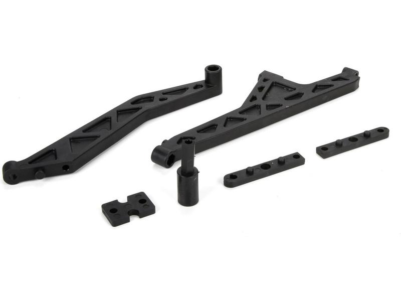MTXL: Příčky šasi přední/zadní, vložka centr. dif. LOS251037