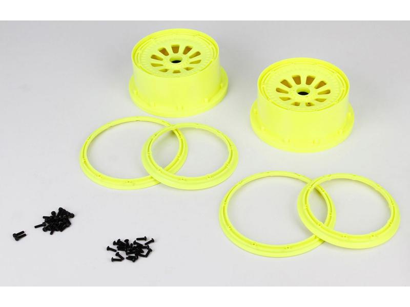 5TT: Disky s pojistnými kroužky žluté (4) LOSB7035