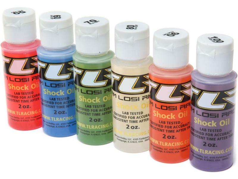 TLR silikonové oleje 50, 60, 70, 80, 90, 100Wt (6x56ml)
