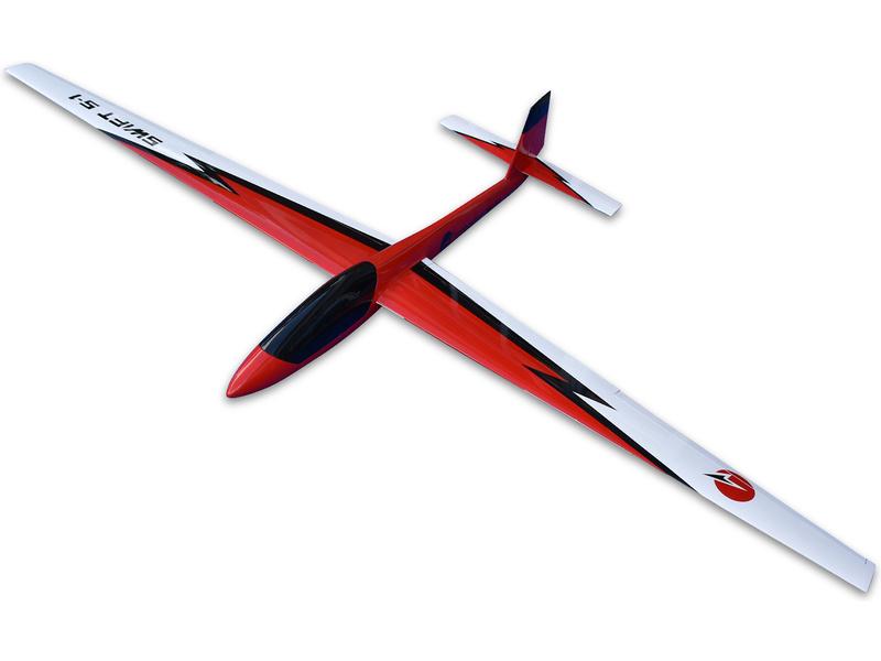 Tomahawk Swift S1 3.4m FRP červený ARF