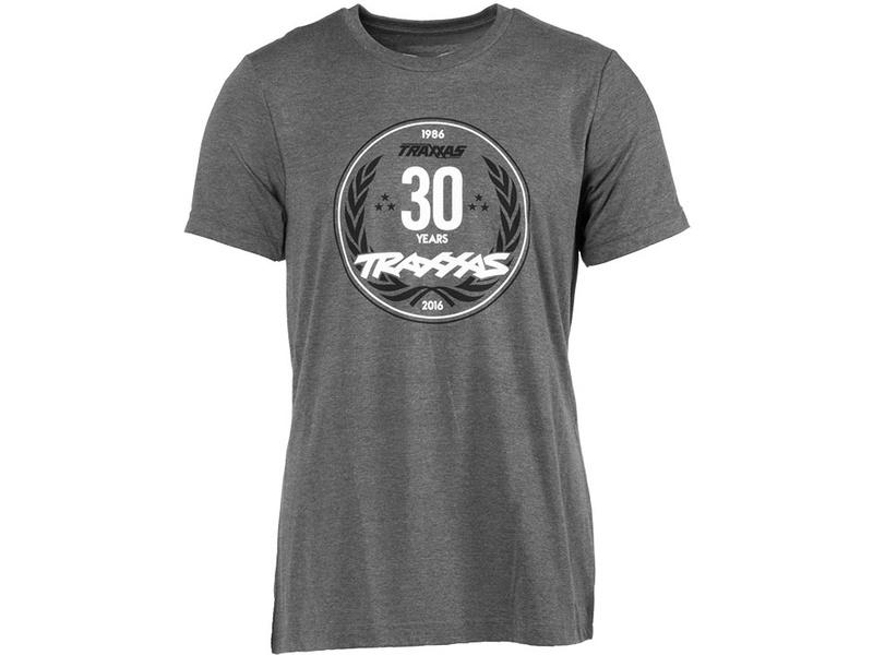 Traxxas tričko výročí 30 let šedé XL