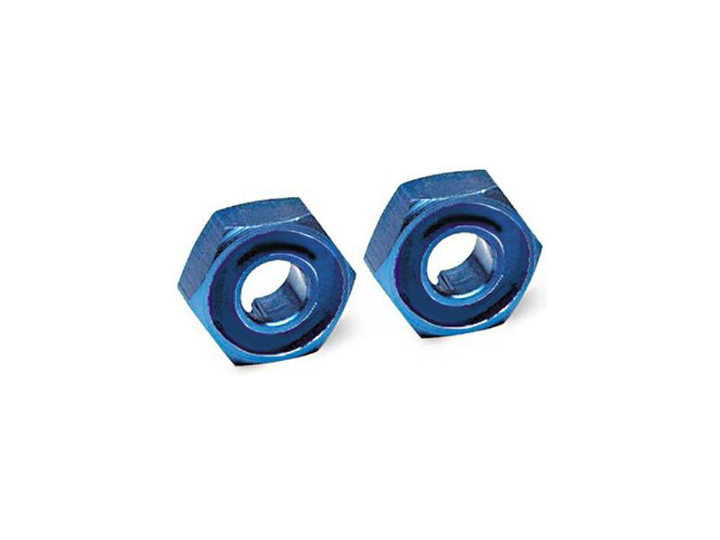 Traxxas - náboj kola hliníkový modrý s čepy (2), TRA1654X, Traxxas 1654X