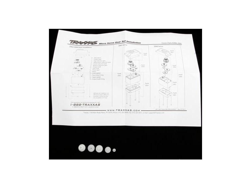Traxxas - převody serva TRA2065, TRA2064, Traxxas 2064