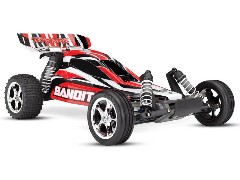Traxxas Bandit 1:10 RTR červený, TRA24054-4-RED, Traxxas 24054-4-RED