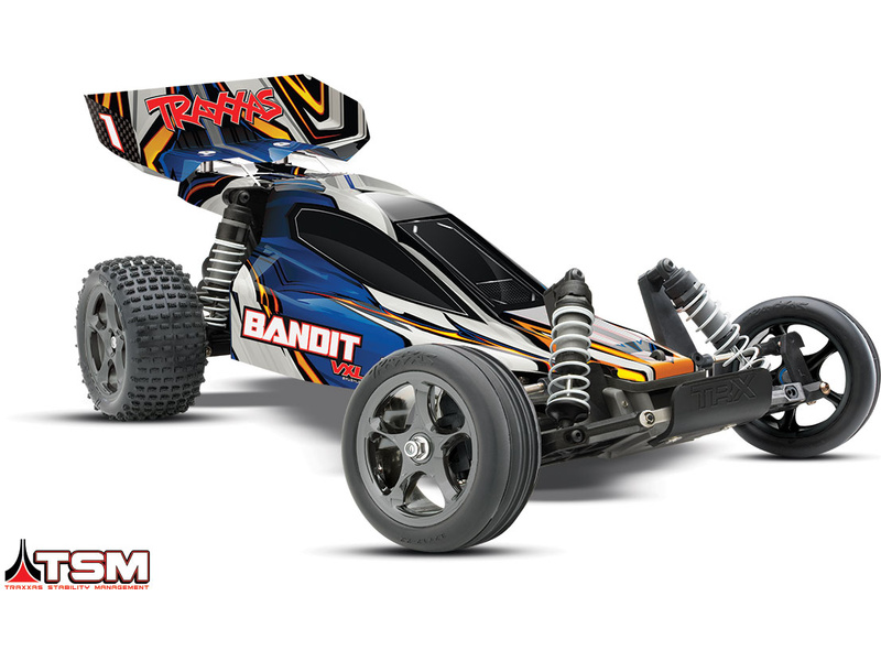 Traxxas Bandit 1:10 VXL TQi RTR modrý, TRA24076-4-BLO