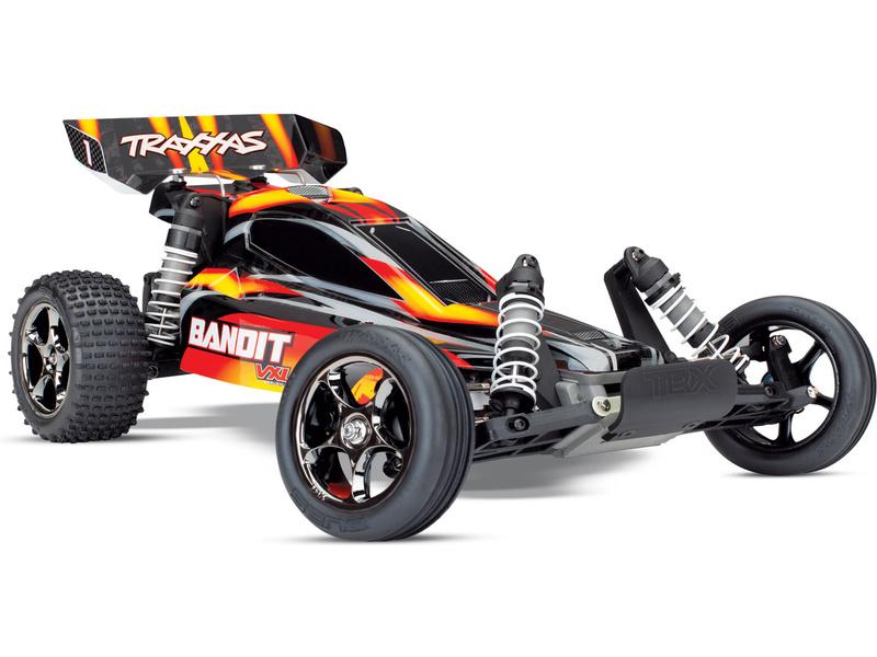 Traxxas Bandit 1:10 VXL TQi RTR červený, TRA24076-4-RED, Traxxas 24076-4-RED