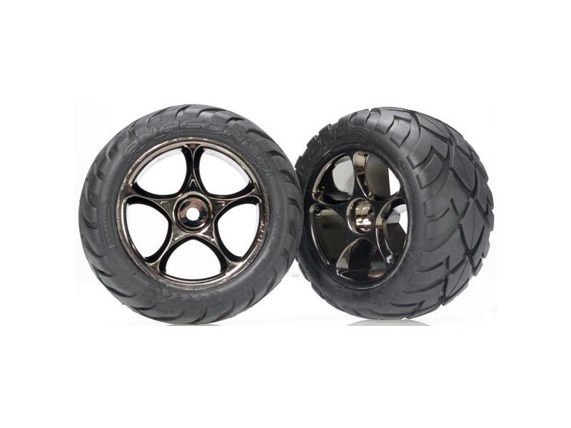 """Traxxas kolo 2.2"""", disk Tracer černý chrom, pneu Anaconda (2) (zadní), Traxxas 2478A, TRA2478A"""