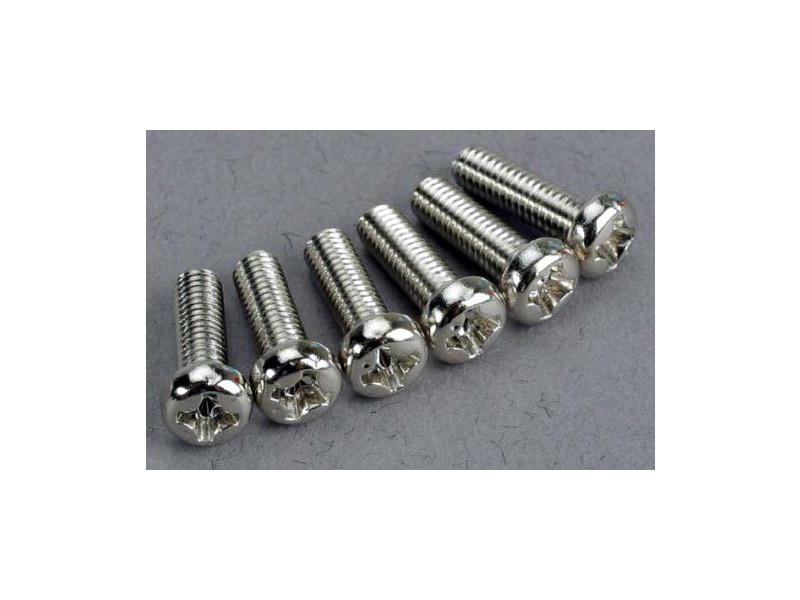 Šroub křížový půlkulatá hlava zink. M3x10mm (6), Traxxas 2560 , TRA2560
