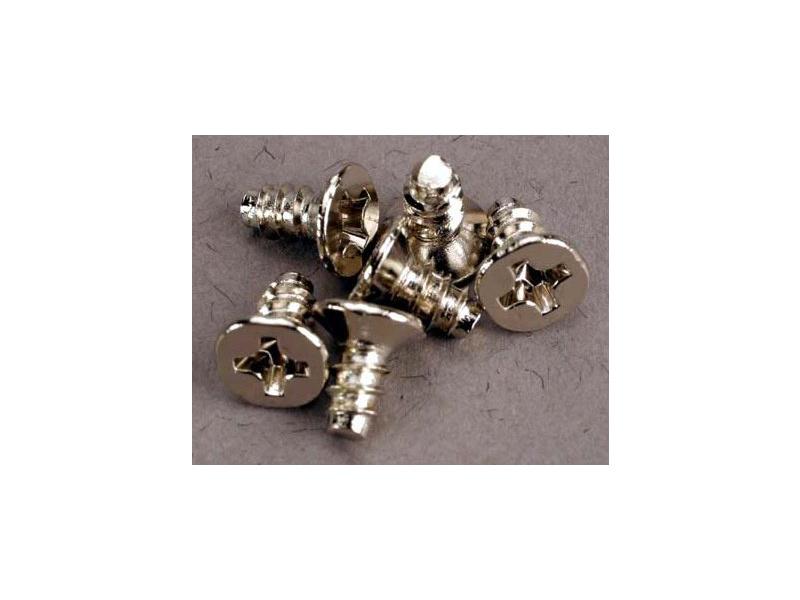 Vrut křížový zapuštěná hlava zink. 3x6mm (6), Traxxas 2653 , TRA2653