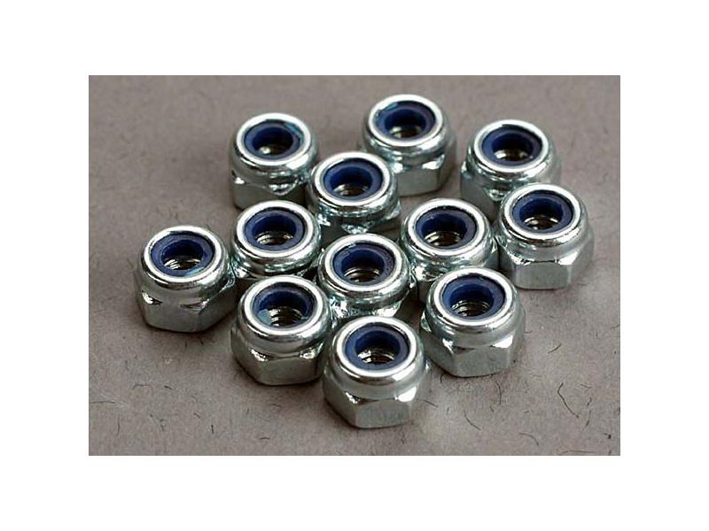 Matice samojistná ocel zink. M3 (12), TRA2745, Traxxas 2745