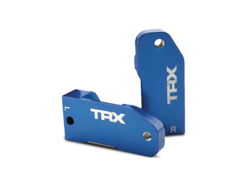 Traxxas - závěs těhlice hliník modrý 30° (L+P), TRA3632A, Traxxas 3632A