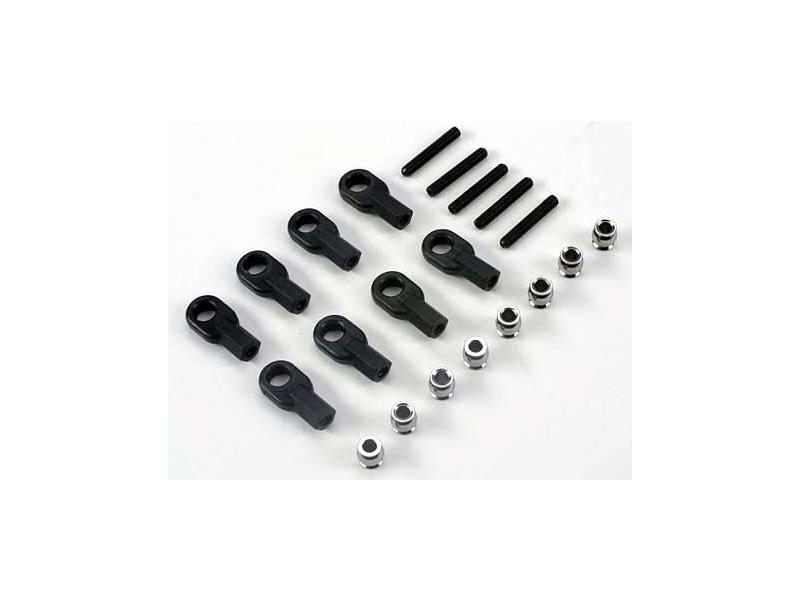 4-Tec - koncovky tyčí řízení/zavěsů (2+2), TRA4341, Traxxas 4341