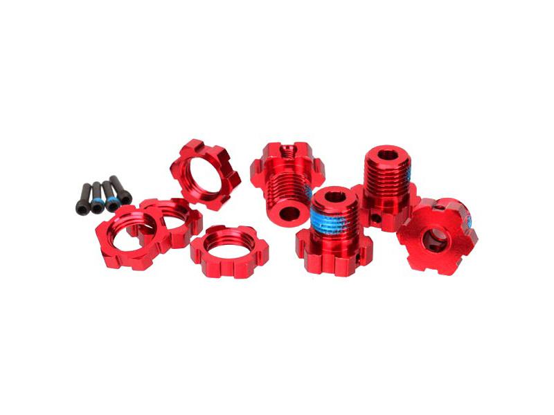 Traxxas náboj kola 17mm hliníkový červený (4), Traxxas 5353R, TRA5353R