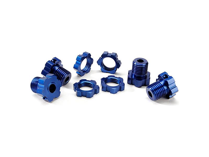 Traxxas náboj kola 17mm hliníkový modrý (4), Traxxas 5353X, TRA5353X