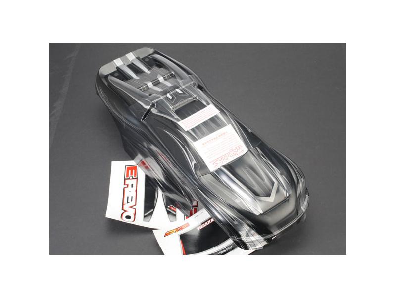 E-Revo - karosérie ProGraphix stříbrná, TRA5611X, Traxxas 5611X