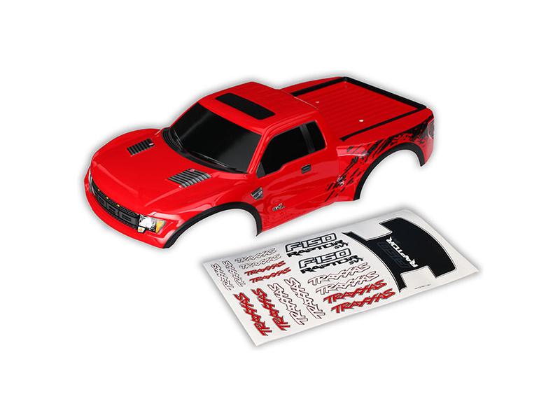 Ford Raptor: Karosérie červená, samolepky, Traxxas 5815R , TRA5815R