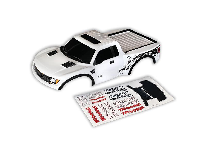 Ford Raptor: Karosérie bílá, samolepky, Traxxas 5815X , TRA5815X
