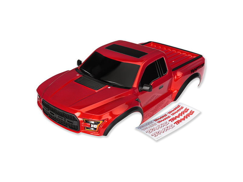 Ford Raptor 2017: Karosérie červená, Traxxas 5826R , TRA5826R