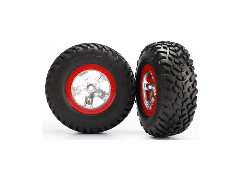 """Traxxas kolo 2.2/3.0"""", disk SCT saténový-červený, pneu SCT S1 (2), Traxxas 5873R, TRA5873R"""