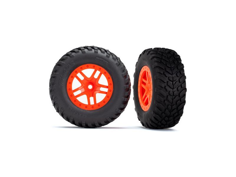 "Traxxas kolo 2.2/3.0"", disk SCT Split-Spoke oranžový, pneu SCT (2), TRA5892, Traxxas 5892"