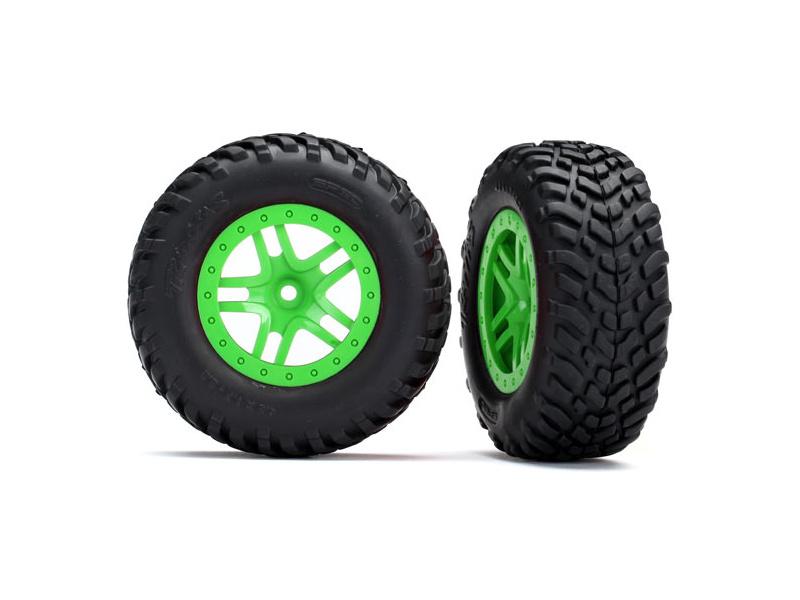 """Traxxas kolo 2.2/3.0"""", disk SCT Split-Spoke zelený, pneu SCT (2), TRA5892G, Traxxas 5892G"""