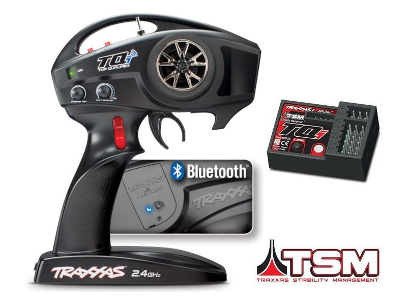 Traxxas vysílač TQi 4 kan., BlueTooth modul, přijímač TSM, TRA6507R, Traxxas 6507R