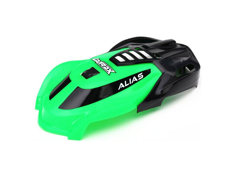LaTrax Alias: Kabina zelená, vrut 1.6x5 (3), Traxxas 6614 , TRA6614
