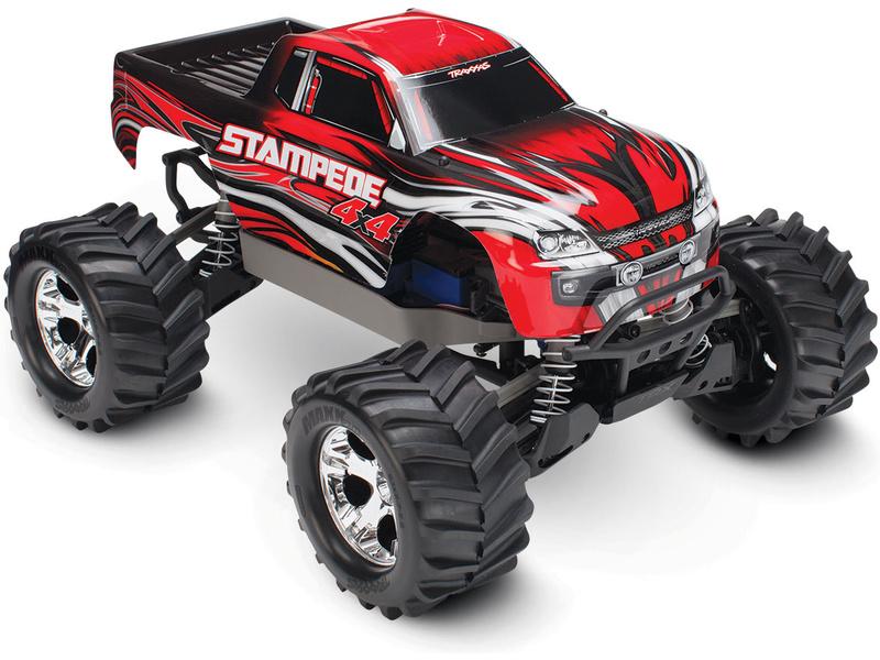 Traxxas Stampede 1:10 4WD RTR červený, TRA67054-1-RED, Traxxas 67054-1-RED
