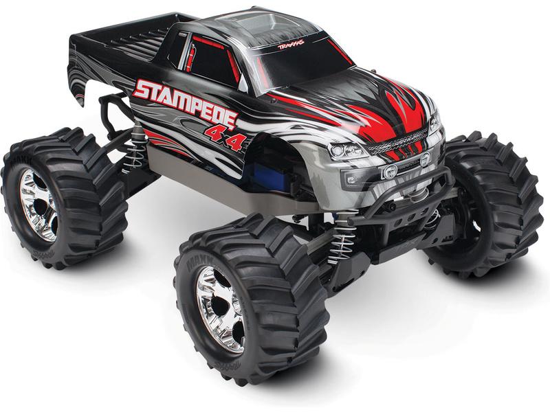 Traxxas Stampede 1:10 4WD RTR stříbrný, TRA67054-1-SLV, Traxxas 67054-1-SLV
