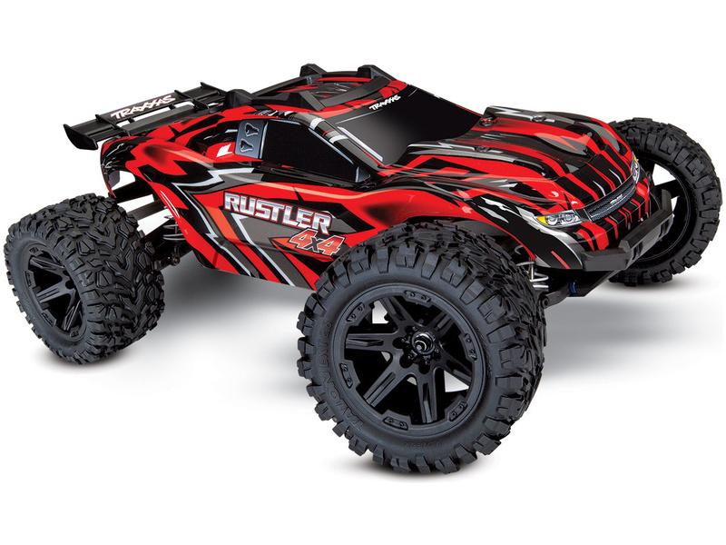 Traxxas Rustler 1:10 4WD RTR červený, TRA67064-1-RED