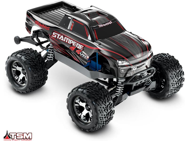 Traxxas Stampede 1:10 VXL 4WD TQi RTR černý, TRA67086-4-BLK, Traxxas 67086-4-BLK