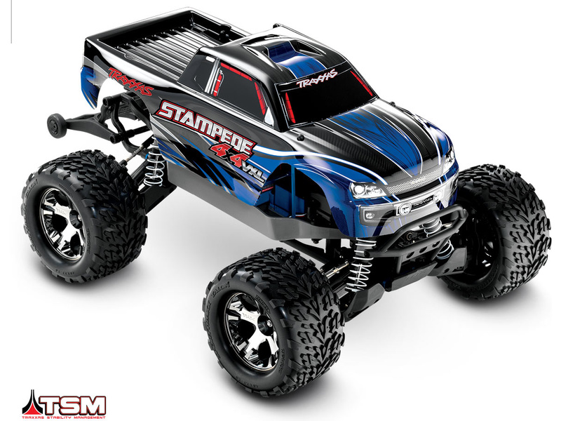 Traxxas Stampede 1:10 VXL 4WD TQi RTR modrý, TRA67086-4-BLU, Traxxas 67086-4-BLU