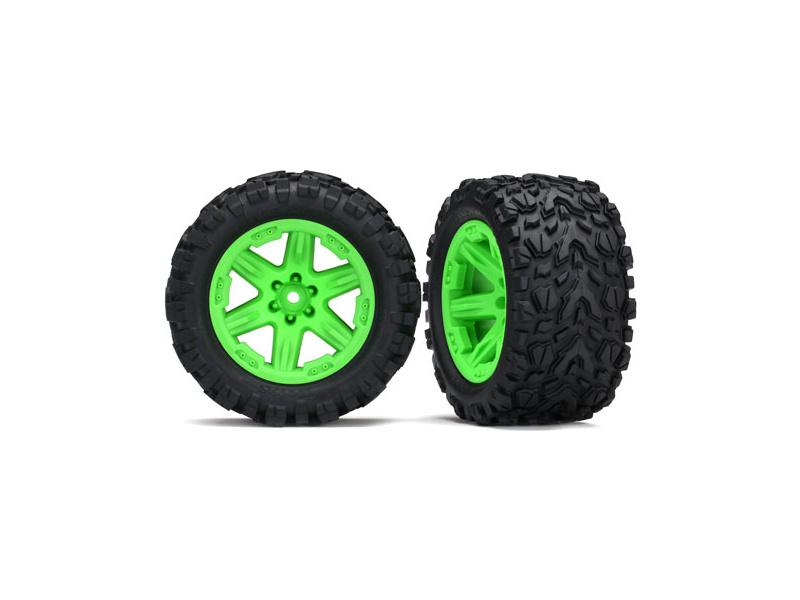 """Traxxas kolo 2.8"""", disk RXT zelený, pneu Talon Extreme (pár) (zadní), Traxxas 6774G, TRA6774G"""