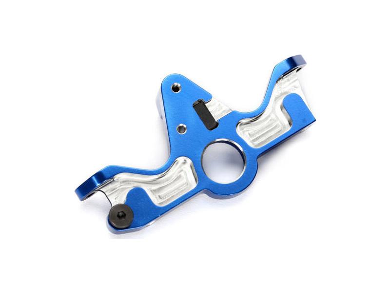 Traxxas - držák motoru hliníkový modrý, TRA6860R, Traxxas 6860R