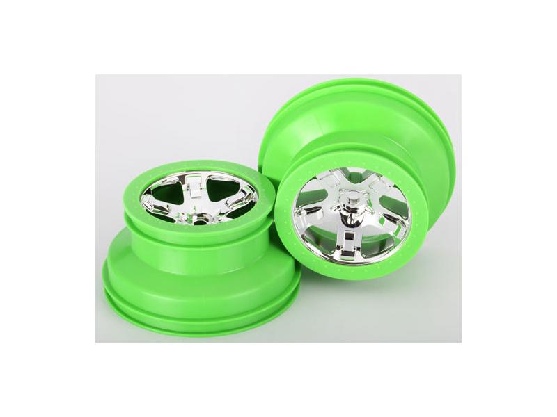 "Disk kola univ. 2.2/3.0"" SCT chrom/zelený (2), Traxxas 6875 , TRA6875"