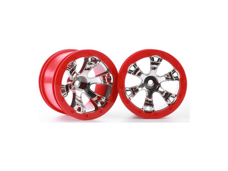 """Disk kola univ. 2.2"""" Geode chrom/červený (2), TRA7271, Traxxas 7271"""