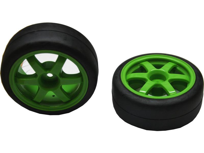 "Kolo univ. On-Road Slick 1.9"", zelený disk (2), TRA7375A, Traxxas 7375A"