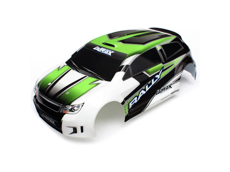 LaTrax Rally - Zelená karosérie, samolepky, Traxxas 7513 , TRA7513