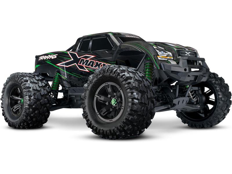 Traxxas X-Maxx 8S 1:5 4WD TQi RTR zelený, TRA77086-4-GRN