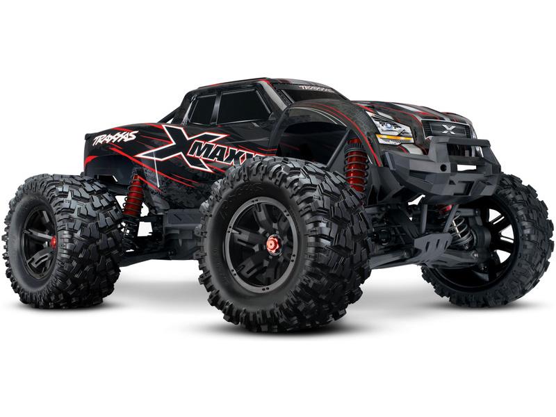 Traxxas X-Maxx 8S 1:5 4WD TQi RTR červený, TRA77086-4-RED